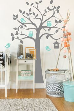 Hoot tree 2. Two Dots, Wall Decals, Two By Two, Colours, House, Owls, Range, Home Decor, Cookers