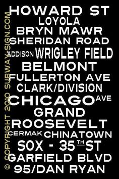 """Red Line Stations of the Chicago """"L""""  CHICAGO - ILLINOIS - Clark & Division was my Old Town stop."""