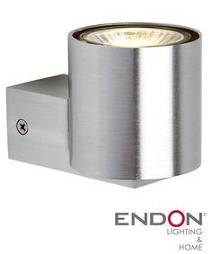Endon 'Izon' 2 Light Up & Down Wall Light, Satin Nickel Plate - G9033121 None