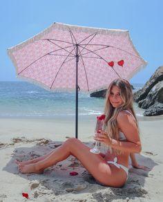 High fashion super cute beach umbrella by beachBRELLA® UV, Fade and Water Resistant. Sun Umbrella, Outdoor Umbrella, Beach Umbrella, Cute Umbrellas, Solana Beach, Mermaid Beach, Lovers And Friends, Beach Picnic, Us Beaches