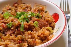 Laura's Jambalaya:  A quick and easy dinner that cooks in one pan in less than 30 minutes!