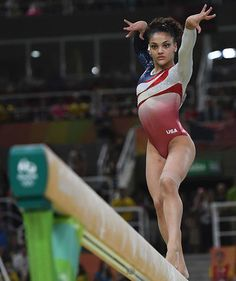 Laurie Hernandez on beam | Try her moves the next time you need to calm your nerves.