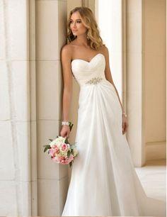 Elegant Wedding Dress, Chiffon Bridal Gown