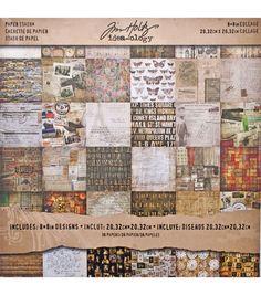 """Idea-Ology Paper Stash Paper Pad 8""""X8"""" 36/Pkg-Collage"""