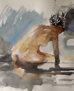 Life Studies ‹ Paintings Categories ‹ My Online Art Gallery Figure Painting, Figure Drawing, Painting & Drawing, Watercolor Portraits, Watercolor Paintings, Life Drawing, Anime Comics, Erotic Art, Figurative Art