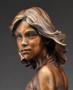 Pivotal Moment - Angela Mia De La Vega - Elegant Bronze Figurative Sculpture