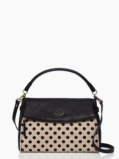 #summer two stylish classics: the little minka and a canvas dot print. the cobble hill canvas dot minka by kate spade new york. (january 2014) #handbag #purse