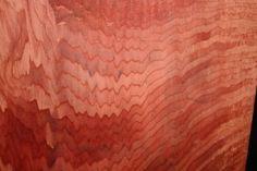 redwood turning block up close of zig zag pattern