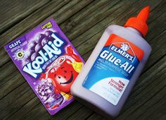 Make Colored & Scented Glue with Kool-Aid.  End of the year fun project to use up all of those half empty glue bottles :)