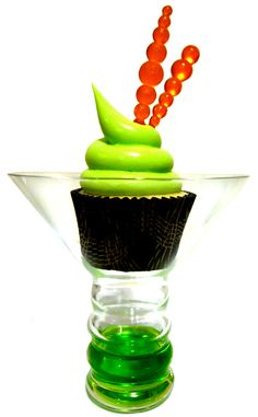 The Lone Baker - Japanese SlipperCupcake.  The drink is SO good, wonder how the cupcake tastes?  I'll bet it is wonderful :)))