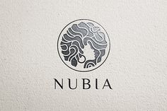Ad: Nubia Hair Logo Template by vraione on Nubia princess hair style logo concept. - color, black and white versions. Business Brochure, Business Card Logo, Princess Logo, Princess Hair, Hair Salon Logos, Hair Logos, Beauty Salon Logo, Marca Personal, Logo Templates