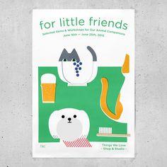 graphic design for For Little Friends - Jaemin Lee