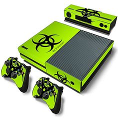 ModFreakz® Console/Controller Vinyl Skin Set - Green Biohazard for Xbox One Original Xbox One Video, Video Games Xbox, Xbox One Games, Xbox One Skin, First Video Game, Xbox One Console, Wii U, Xbox 360, Video Game Console