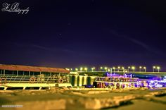 From Nile Street at night, Khartoum    من شارع النيل ليلاً، الخرطوم #السودان   (By Firass Abuharaz)  #sudan #khartoum #nile #night