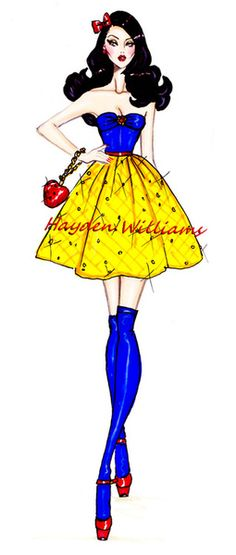 The Disney Diva's collection by Hayden Williams: Snow White. Disney Princess. art. creative. fashion. #ForeverEileen