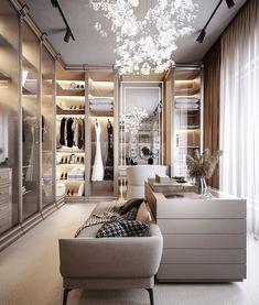 Walk In Closet Design, Bedroom Closet Design, Home Room Design, Closet Designs, Dream Home Design, Home Interior Design, House Design, Luxury Bedroom Design, Luxury Interior