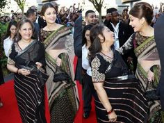 We feel this mother/daughter-inlaw dup looks great in Sabyasachi creations