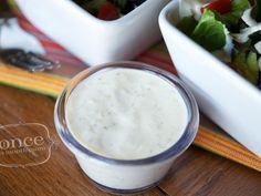 Gluten Free Dairy Free Caesar Salad Dressing Recipe - #freezer #oamc #glutenfree #dairyfree #salad