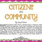 I created this activity to help my little friends have a more personal and in depth understanding of what it means to be a good and active citizen ...