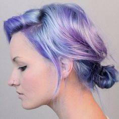 purple violet pastel hair- easy to do with Wella's Illumina