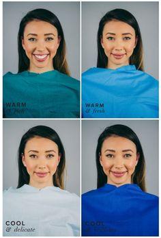 Best Blue for Warm Skin, Dark Hair & Eyes