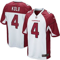 Men Nike Arizona Cardinals #4 Kevin Kolb Game White NFL Jersey Sale