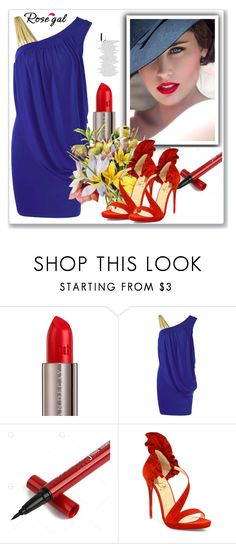 """""""Rosegal"""" by merka1-1 ❤ liked on Polyvore featuring Urban Decay, Bastien and Christian Louboutin"""