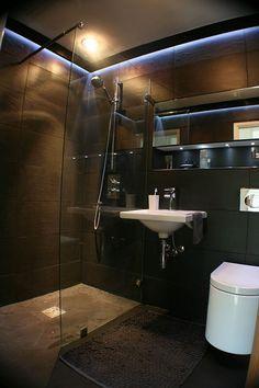 ♂ Contemporary Dark Shower Masculine bathroom design inspiration