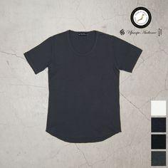 Upscape Audience JPSダブルニット裾ラウンドUネック半袖Tシャツ