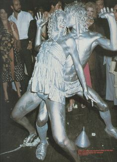 Silver dancers at Studio 54