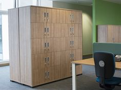 Storage solution in the office space Mobile Storage, Design System, The Office, Storage Solutions, Cupboard, Filing Cabinet, Shelving, Lockers, Locker Storage