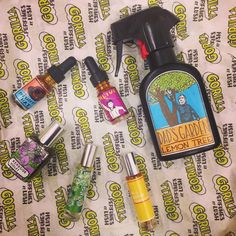 these are some of said goodies from the perfume shop! Coming to stores in the near future, we have everything from the sweet and smoky All Good Things to Green Fun scented body spray Dad's Garden