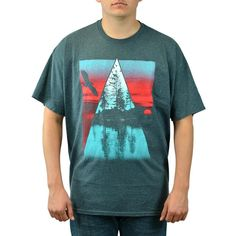 Tony Hawk Triangle Contrast  Men's Grey T-shirt. Charcoal short sleeve T-shirt with a Nature Triangle graphic on the front
