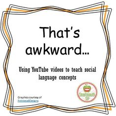 I have been working hard to add some new social language videos to my Pinterest board and came across a YouTube channel, LAHWF, by Andrew Hales.  Great short clips for teaching appropriate behavior.  Perfect for our older students.  Read more and get links to the FREE videos at:  http://smartmouthslp.com/2016/03/06/thats-awkward-2/