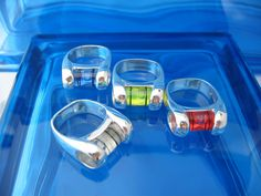 Judi Pattson, Even Design: sterling silver, acrylic rings
