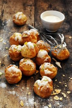 Very creamy and very limy cream puffs - Recipe in English...