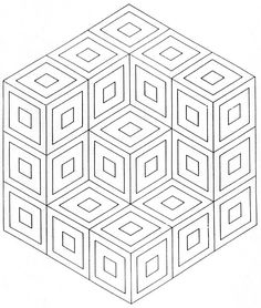victor vasarely coloring pages | 1000+ images about VASARELY Op Art on Pinterest | Victor ...