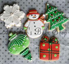Winter Wonderland Sugared Christmas Tree and Snowflake Sugar Cookies Fancy Cookies, Iced Cookies, Cute Cookies, Cookies Et Biscuits, Royal Icing Cookies, Cupcake Cookies, Frosted Cookies, Cupcakes, Cookie Favors