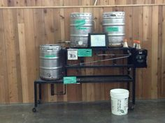 The original brewing equipment used to start Dogfish Head Brewery.