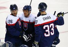 Handzus,Hossa,Chara of Team Slovakia Hockey Teams, Chicago Blackhawks, Olympic Games, Chara, Olympics, Sports, Hs Sports, Sport