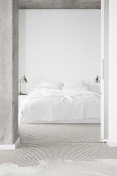 white on white linen bedside lamps grey walls