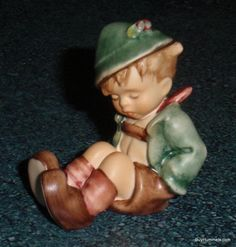 """Afternoon Nap"" Goebel Hummel Figurine #836 2/0 TMK8 With Original Box - GIFT!"