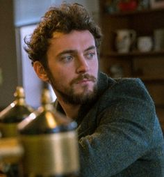 "George Blagden behind the scenes of ""The Three of Us"" movie"