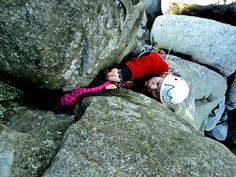 "Placing ""gear"" on the old route of Mayor's Wife, Adrspach via http://climbing.ilooove.it"