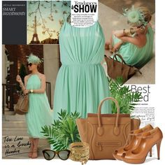 A fashion look from June 2012 featuring Sandro dresses, Gucci shoes and Miso bracelets. Browse and shop related looks.