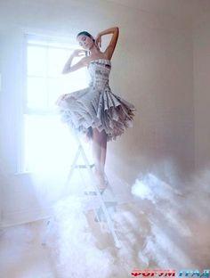 Платье из газет своими руками - Из бумаги картины, плетения, украшения оставляют феерические впечатления - Форум-Град