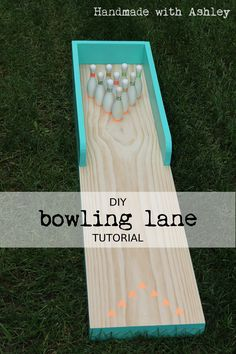 Make this super fun mini bowling game! #handmade #DIY #Games #woodworking