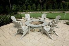 built-in fire pit....some day...