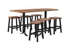 Rustic Barnwood Bar Table and Stools
