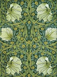 24 New Ideas Art Nouveau Design Pattern Illustration William Morris William Morris Wallpaper, William Morris Art, Morris Wallpapers, William Morris Patterns, Art Floral, Motif Floral, Floral Design, Pattern Art, Print Patterns